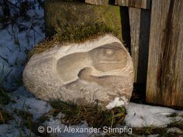 Reptil aus Sandstein